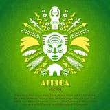 African Tribal Ethnic Art Background Stock Photography
