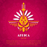 African Tribal Ethnic Art Background Royalty Free Stock Photography