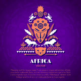 African Tribal Ethnic Art Background Stock Photos