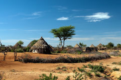 African tribal hut. In Ethiopia Royalty Free Stock Image