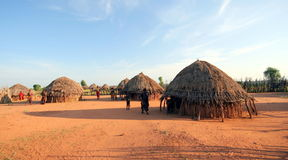 African tribal hut. In Ethiopia Stock Photography