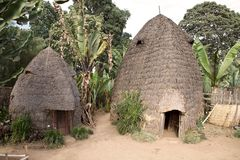 African tribal huts Stock Photo