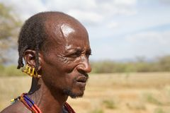 African tribal man Royalty Free Stock Image
