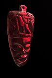 African tribal mask. Hand carved from wood Stock Images