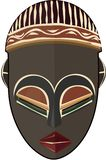 African Tribal Mask Freehand Illustration stock images