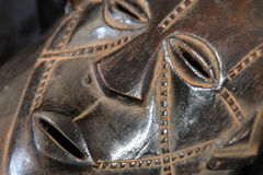 African Tribal Mask - Zande Tribe Stock Images