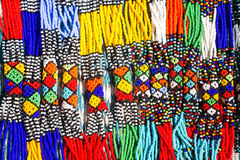 African Tribal Necklaces Royalty Free Stock Photo