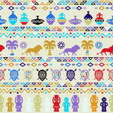 African Tribal Pattern Ethnic ornament Stock Image