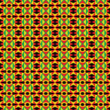 African Tribal Pattern. Seamless black, green, red and yellow pattern Stock Photos
