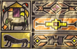 African tribal traditional house ornament, pattern. Royalty Free Stock Photography
