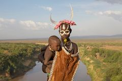 African tribal woman and child Royalty Free Stock Photo