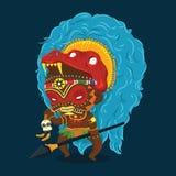 African Tribe Shaman Cartoon Character Royalty Free Stock Photography
