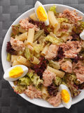 African tuna salad with tomatos and green peppers Stock Image