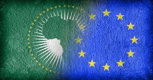 The African Union and the EU Royalty Free Stock Photos