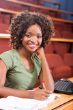 African university student studying. Attractive female african american university student studying Royalty Free Stock Photo