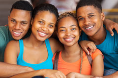 African university students. Close up portrait of cute african american university students royalty free stock image