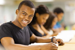 African university students group. Group of students university students in library Royalty Free Stock Image