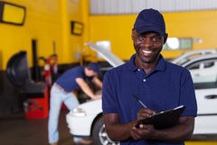 African vehicle mechanic Stock Images