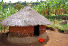 African Village. A grass hut in the village of kapchorwa in uganda east africa Royalty Free Stock Images
