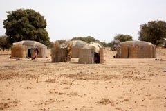 African village huts Stock Photos