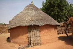African village huts. And traditional architecture Royalty Free Stock Photos
