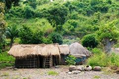 African village on the lake Malawi Royalty Free Stock Image