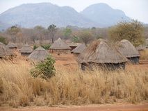 African village in Mozambique Stock Images