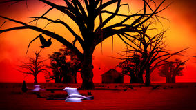 African village at night Stock Photos