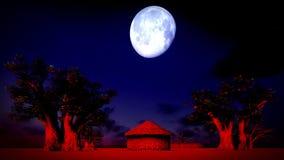 African village at night Royalty Free Stock Image