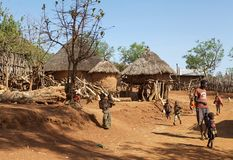 African village and people Royalty Free Stock Photos