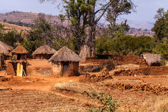 African village. Typical african village in Malawi Stock Photos