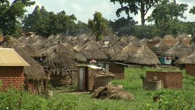 African village stock video footage