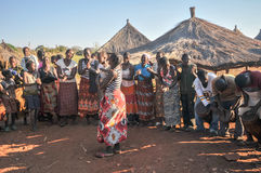 African Villagers, Mikuni, Zambia Royalty Free Stock Images