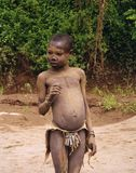 African War Child. A young African child with bullet loin cloth Royalty Free Stock Photo