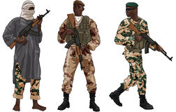 African War Soldiers Stock Image