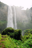 African waterfall. Tropical upper sipi falls uganda east africa Stock Photos