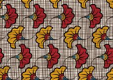 Free African Wax Print Fabric, Ethnic Handmade Ornament Seamless Design, Tribal Pattern Motifs Floral Elements. Vector Texture, Afro Stock Photo - 202755500
