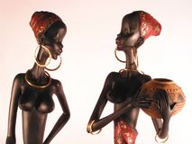 African woman. A wooden African figure of young woman Royalty Free Stock Photography
