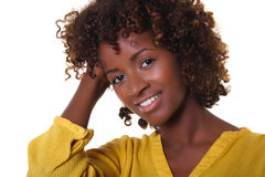 African woman. A smiling face of african woman Stock Photo