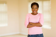 African woman apartment Royalty Free Stock Photography
