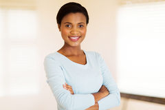 African woman arms crossed royalty free stock photo