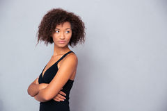 African woman with arms folded Royalty Free Stock Photos