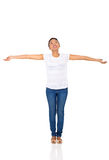 African woman arms outstretched Stock Images