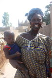 African woman with a baby Stock Photography