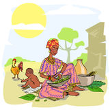 African woman with baby Royalty Free Stock Photo
