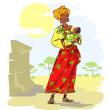 African woman with baby Stock Image