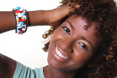 African woman with bangles. An African woman with bangles Royalty Free Stock Photo