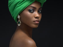 African woman. Beautiful african woman in the studio