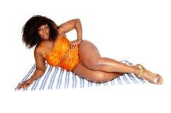 African woman in bikini. Stock Photography