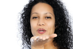 Blowing woman Stock Photography